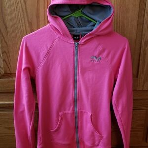 Like new FILA full zip girls hoodie